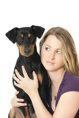 Woman with dog - Frau mit Hund