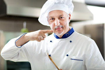 Chef in a restaurant kitchen