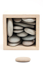 Pebble Stones in Box