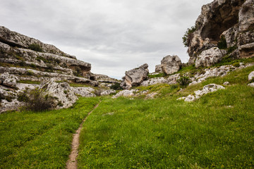 Path in the gravina