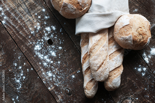 Fotobehang Brood French Bread