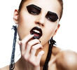 Individuality. Extraordinary Hippie. Extreme Make-up. Subculture
