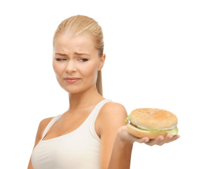 woman rejecting junk food