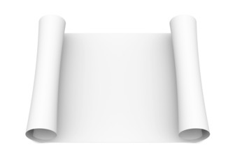 Scroll of white paper