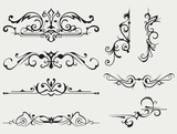 Calligraphic design element and page decoration - 51521416