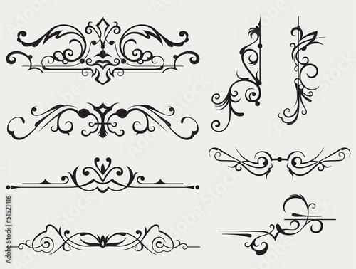 Kaligraficzny element projektu i ozdoba strony