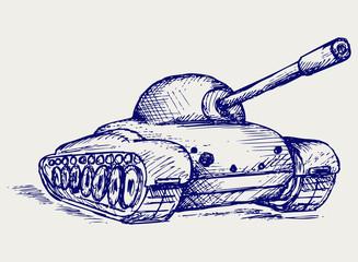 Main Battle Tank. Doodle style