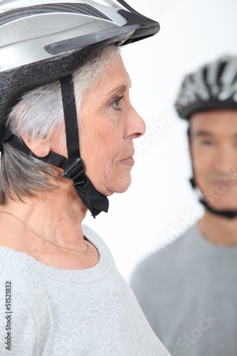 Older woman cyclist
