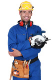 Builder with circular saw