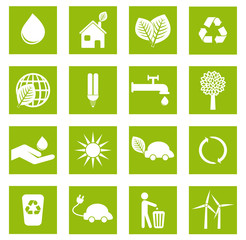 Set 1 icônes écologiques