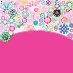 Flowers dance in pink