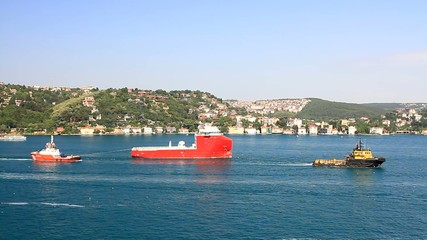 Towing Operation of an offshore platform supply vessel