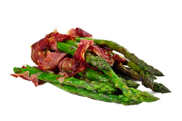 Grilled Young Asparagus Wrapped in Prosciutto Meat