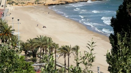 Beach of Tarragona in Catalonia