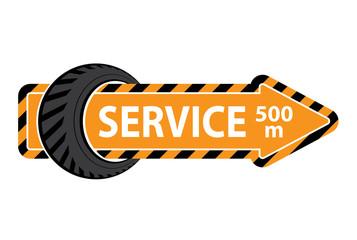 Tire service pointer
