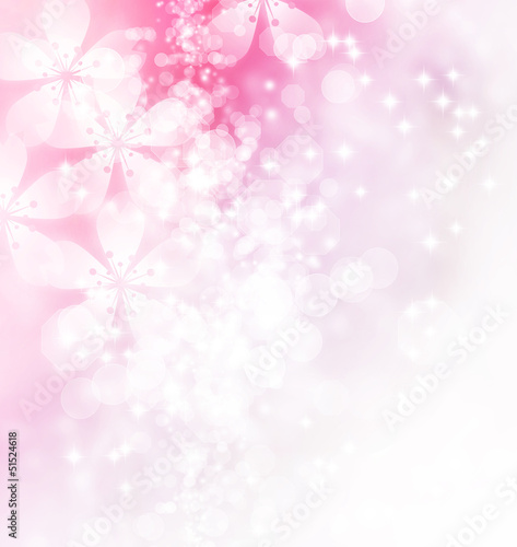 Blossoms and Bokeh Illustration