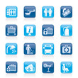 Airport, travel and transportation icons -  vector icon set 2