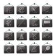 Sport equipment icons - vector icon set