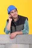 Mason on the phone