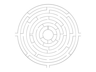 Round maze shape,vector