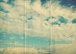 retro sky paper