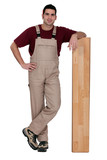 Man with wooden flooring