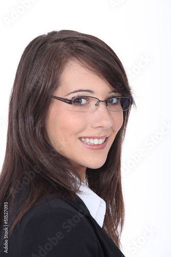Young businesswoman wearing glasses