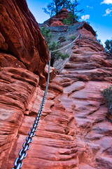 Angel Landing Trail in Zion National Park,Utah,USA