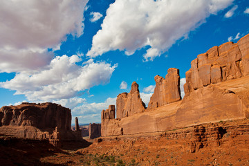 Park Avenue in Arches National Park,Utah