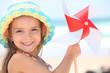 Little girl on a beach