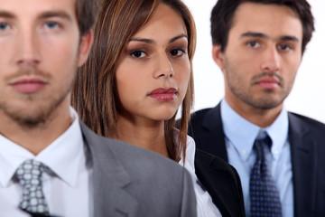 Three young executives