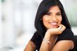 portrait of hispanic smiling businesswoman