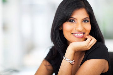 portrait of hispanic smiling businesswoman