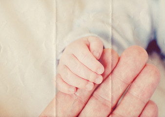baby hand paper