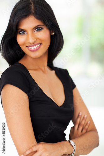 pretty latin american businesswoman