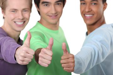 Three lads