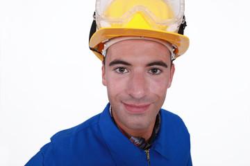 Handyman dressed for the job