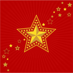 Army gold star. Victory Day