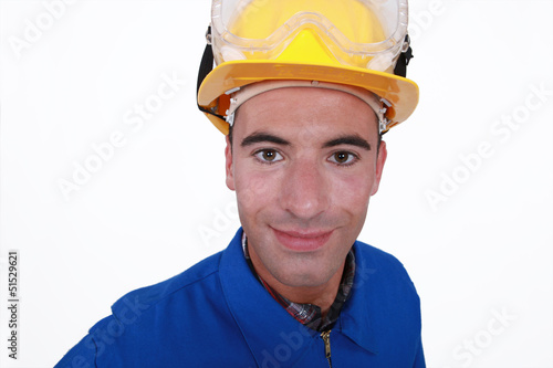 Handyman dressed for the job