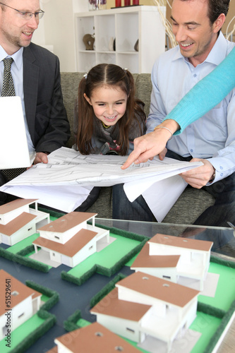 Young family excited about new house