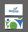 Welling  business card, vector