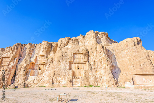 Tomb of Achaemenid king at Naqsh-i Rustam in Persepolis, Iran.