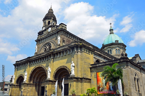 Manila Cathedral in Manila,Philippines