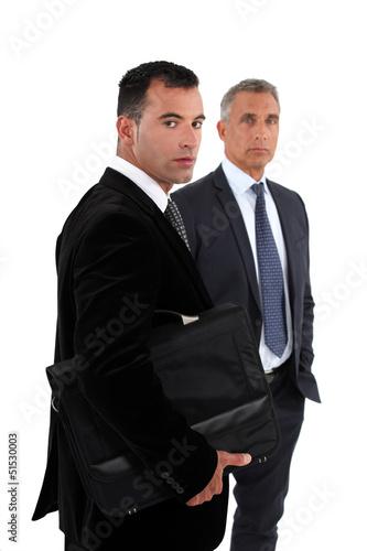 Two businessmen, studio shot