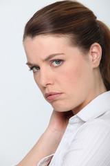 Woman feeling upset