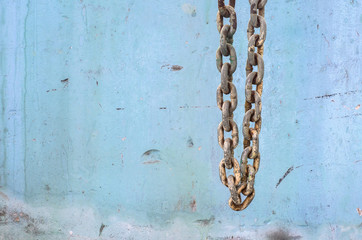 Chain in construction site