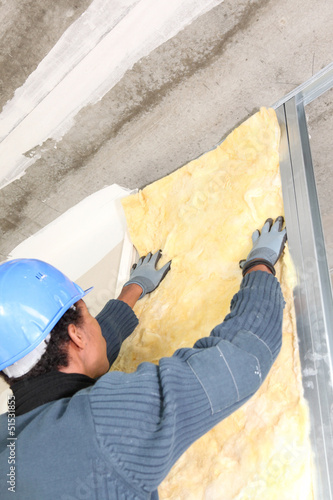 Man insulating wall