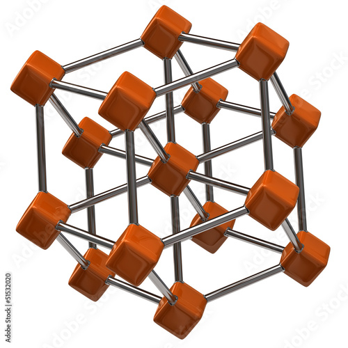 Molecular Structure on white background