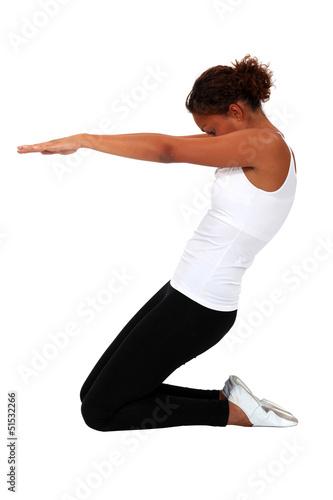A yoga position