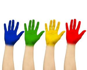 Show color  handprint